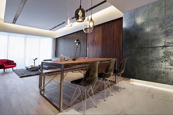 lhv design cemento revetement beton foyer cinema maison mur